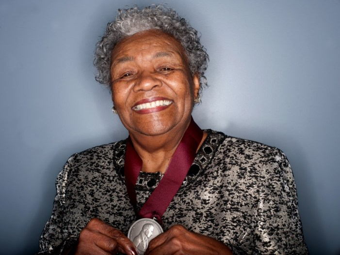 Gladys White Jordan receives Monroe Medal