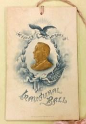 McKinley-Hobart inaugural dance card, 1901.