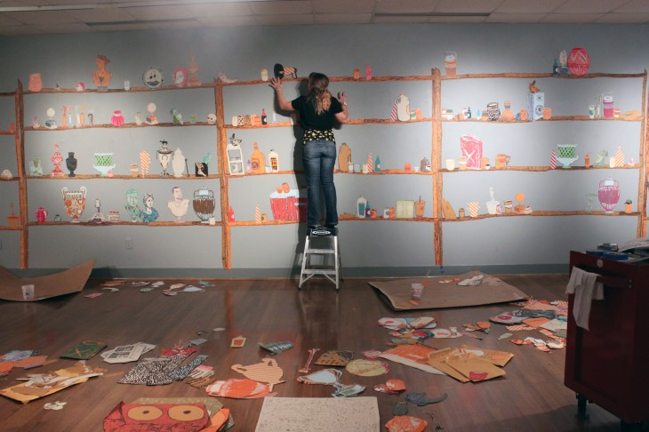 umw students install art gallery