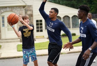 Student athletes from UMW's 27 Division III varsity sports engage area youth. Photo by Suzanne Rossi.