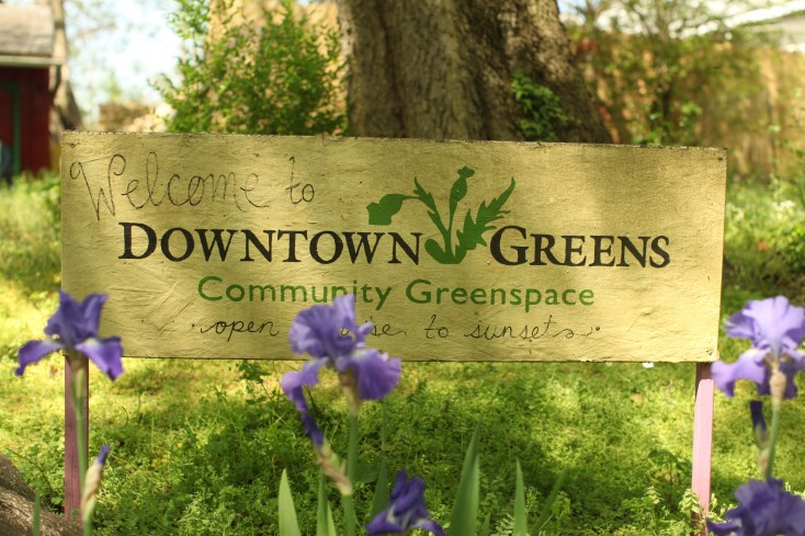 Downtown Greens, at the corner of Fredericksburg's Dixon and Charles streets, is a nonprofit that was formed by two UMW alumni and is now run by a third. Photo by Karen Pearlman.