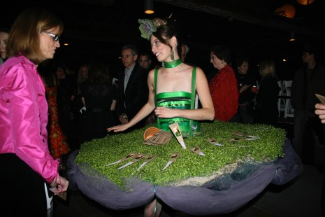 Perry made this tutu out of living greenery for an art class at UMW, where Professor of Art Carole Garmon encouraged her to follow her passion.