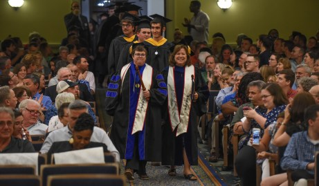 UMW awarded 152 master's degrees in the graduate commencement ceremony. Photo by Clement Britt