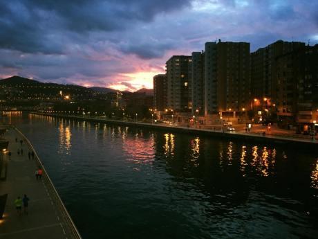 Sunset in Bilbao