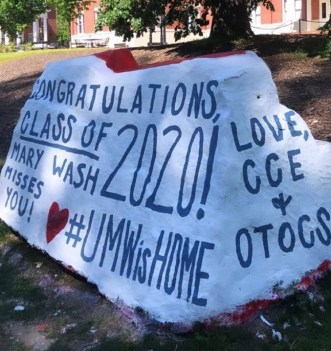 The numbers in the Class of 2020's graduating year add up to four, the number of years most of them spent studying at the University of Mary Washington.