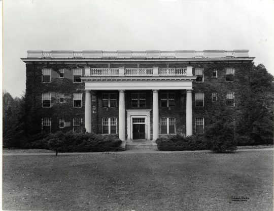 """The General Assembly of 1914 appropriated $37,500 for the construction of Virginia Hall. Originally known as """"Dormitory No. 2,"""" the building was the third to be built on campus, after Willard and Russell (now Monroe). Photo courtesy of UMWSpecial Collections and University Archives."""