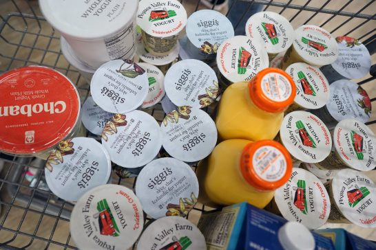 """The Fredericksburg Food Co-op offers a 50 percent discount on all items less than one month after their """"best by"""" date but has to toss the goods after that. Photo by Suzanne Carr Rossi."""
