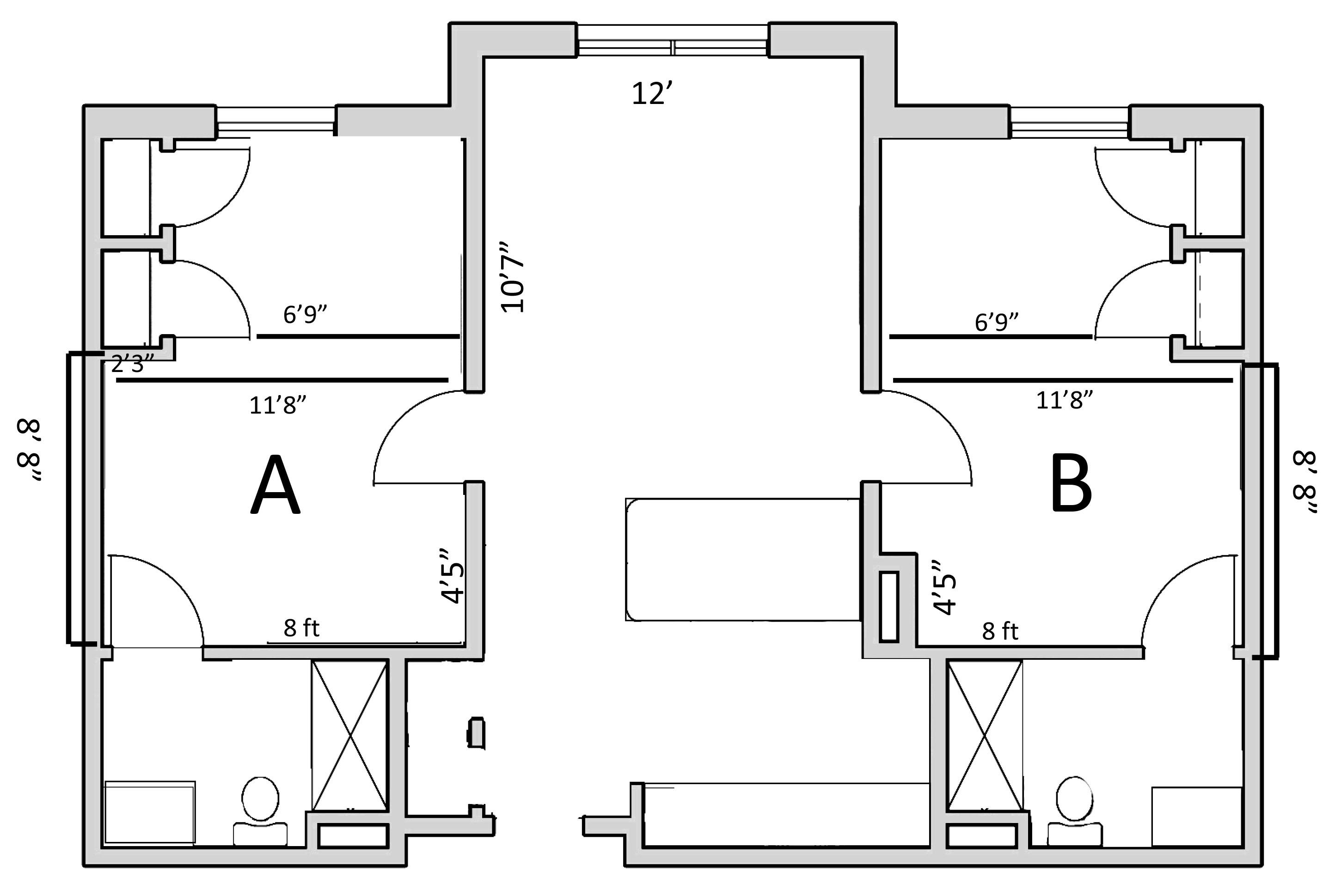 Eagle Landing Floorplan Residence Life