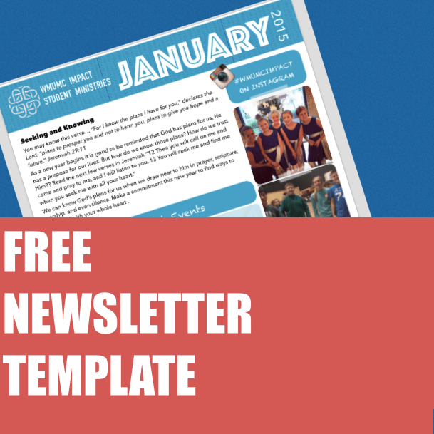 Free January Youth Newsletter Template Um Youth Leaders