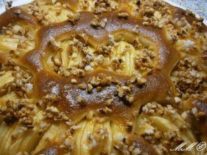 Schwedischer Apfel -Walnuss -Kuchen