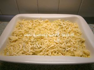 Überbackene Lauch - Eierpfannkuchen