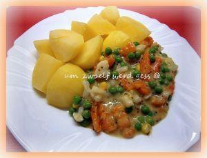 Sengemüse und Salzkartoffeln