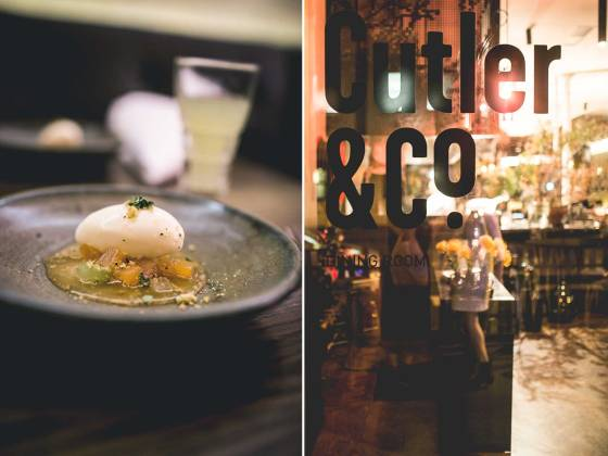 Buttermilk ice-cream with melon, cucumber, verbana jelly and thinkened melon juice at Cutler & Co, Melbourne | un-fold-ed.com