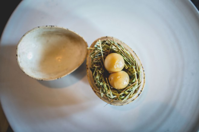 Pickled and smoked quails egg at Noma, Copenhagen | un-fold-ed.com