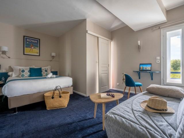 chambre double triple supérieure - La Rochelle - Vieux port