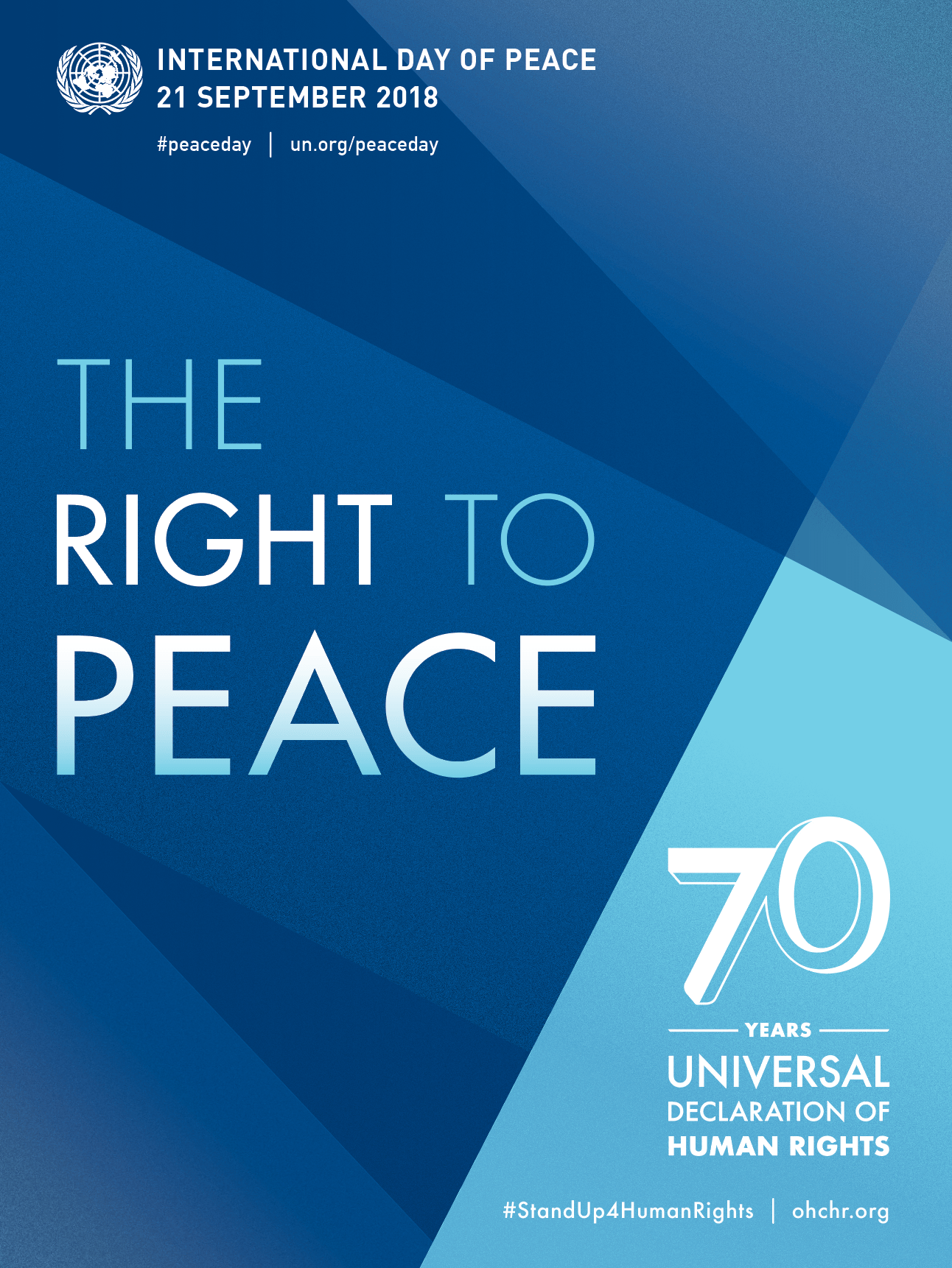 The right to peace poster.