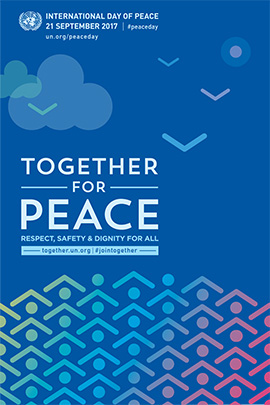 Building blocks for peace poster.