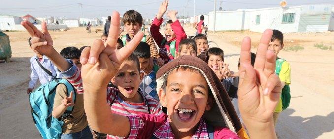 Children in Zataari Camp in Jordan.