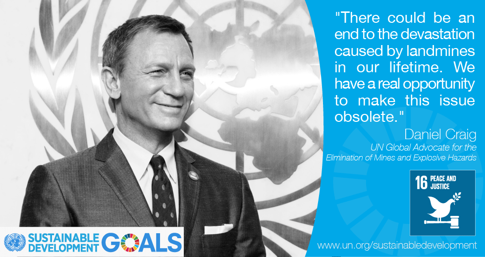 Daniel Craig on Global Goal 16