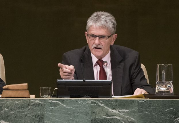 Mogens Lykketoft, President of the seventieth session of the General Assembly, delivers his concluding remarks at the close of the general debate of the seventieth session of the General Assembly.