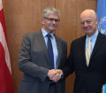 The President met Staffan di Mistura, special envoy for Syria