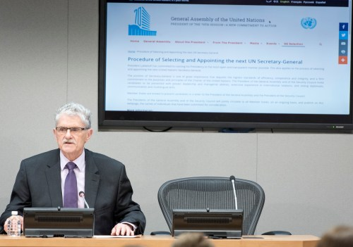 Press briefing by President of the General Assembly, Mr. Mogens Lykketoft