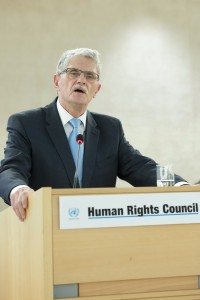 Mogens Lykketof, President of the General Assembly at the 31st regular session of the Human Rights Council. 29 February 2016.