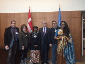 the President of the UN General Assembly met with the HIV/AIDS stakeholders taskforce