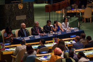 Opening of the Ninth Session of the Conference of States Parties to the Convention on the Rights of Persons with Disabilities. Statements by H.E. Oh Joon, President of the Conferencel H.E. Moguls Lykketoft, President of the General Assembly; Edmond Mulet, Chef du Cabinet on behalf of the Secretary-General; Maria Soledad, Chairperson of the Committee on the Rights of Persons with Disabilities; Yeni Rosa Dayamanti, Civil Society Representative.