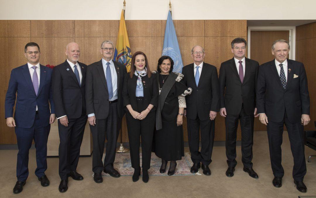 """Reunión informal con los ex presidentes de la Asamblea General sobre el tema: """"Revitalización de las Naciones Unidas para favorecer un sistema multilateral fuerte"""""""