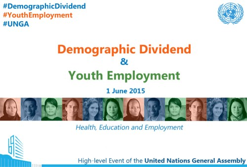 Demographic Dividend and Youth Employment - 1 June 2015
