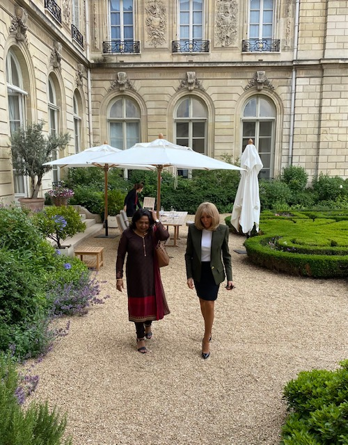 SRSG Patten meets the First Lady of France, Ms. Brigitte Macron