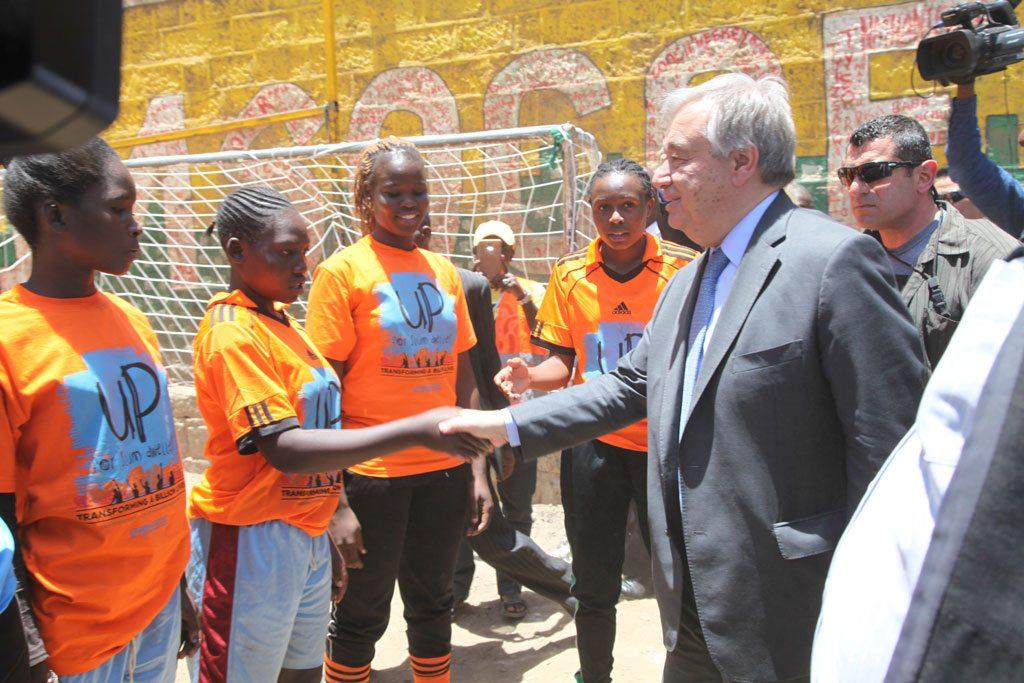 الأمين العام أنطونيو غوتيريش في نيروبي، كينيا