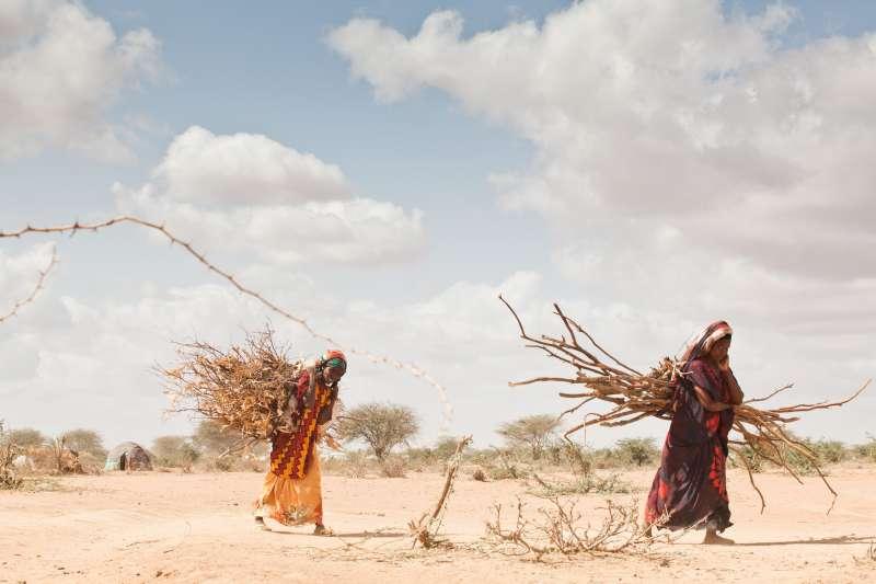 Cada vez son más los desplazados por cambio climático en África, con territorios completamente devastados por la sequía. Foto ACNUR/B. Bannon