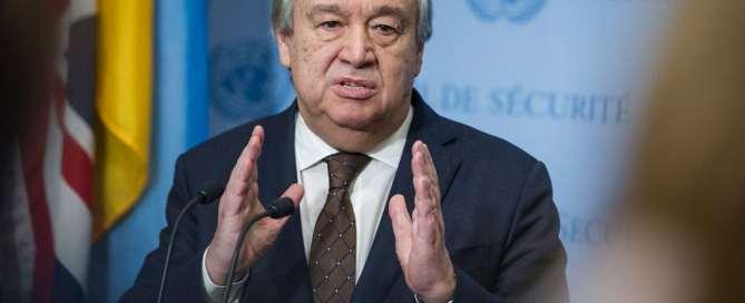 António Guterres en la sede de la ONU. Foto de archivo: ONU/Manuel Elías