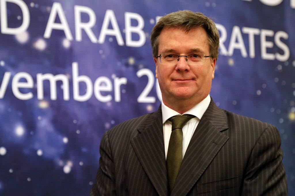 Luc St-Pierre, jefe de la sección de aplicaciones de la tecnología espacial en UNOOSA. Foto: Noticias ONU / Runa A.