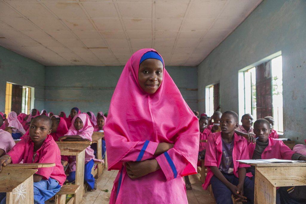 Des enfants dans une école primaire dans la ville de Toro, dans l'Etat de Bauchi, au Nigéria. Photo UNICEF/Eseibo
