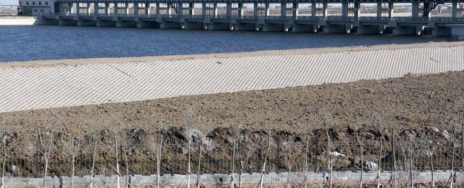 Un barrage permettant de contrôler les inondations