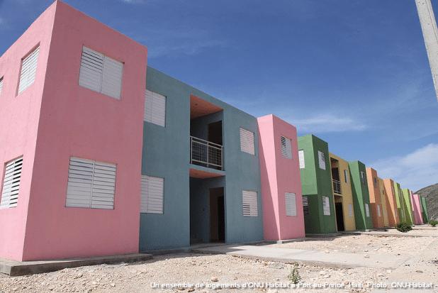 Un ensemble de logements d'ONU Habitat à Port-au-Prince, Haiti. Photo: ONU-Habitat