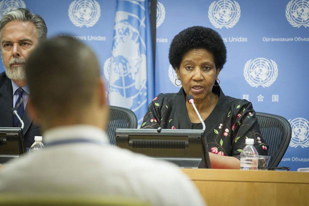 Глава «ООН-женщины» Фумзиле Мламбо-Нгкука