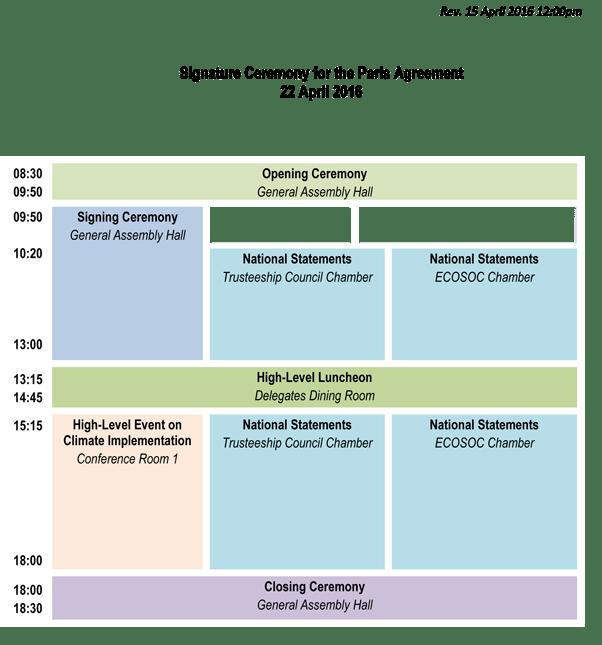Image: 22 April Programme