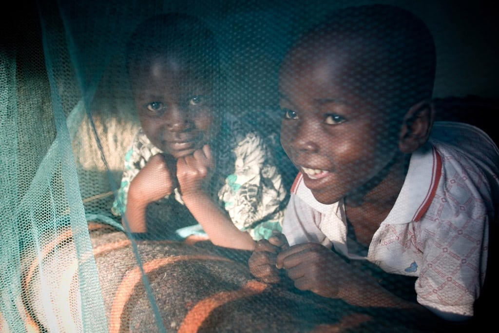 Denis and Wycliff Atieno, aged 6 and 5, live in Ulumbi, a Millennium Village near Sauri in Kenya that has benefited from the use of Olyset nets, the only WHO-approved long lasting insecticide treated nets (LLINs). Photo: © UNICEF/PFPG2014-1178/Hallahan