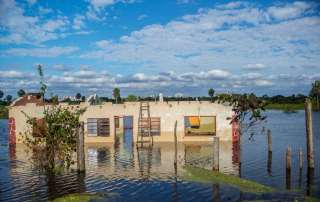 Photo: Flooding in the community of Chaco'i, 30 miles from Asunción, Paraguay, in July 2014.