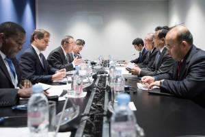 Photo: Secretary-General Ban Ki-moon meets Xie Zhenhua, Chinese Special Representative on Climate Change.
