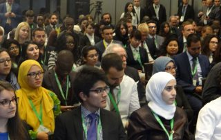 Photo: About 150 youth representatives from around the world gather at the UN Alliance of Civilizations' 7th Global Forum being held in Baku, Azerbaijan, 25-27 April 2016.
