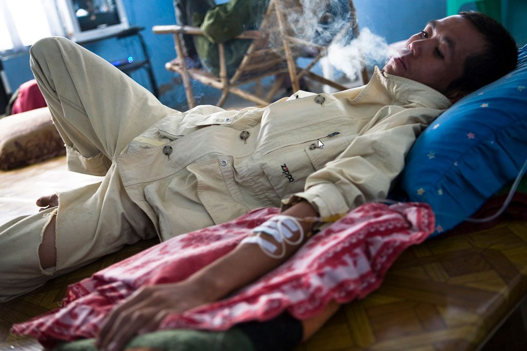 Photo: Drug dependence treatment in Myanmar. Photo: UNODC