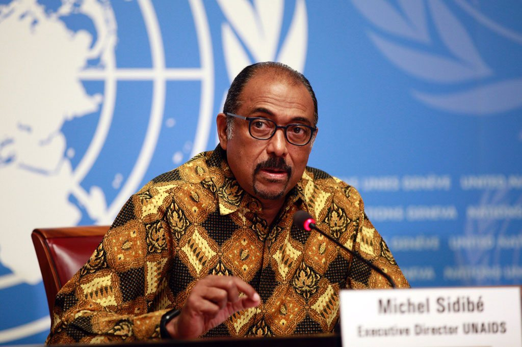 Photo: UNAIDS Executive Director Michel Sidibé launches the Prevention gap report at a press conference in Geneva. Photo: UNAIDS