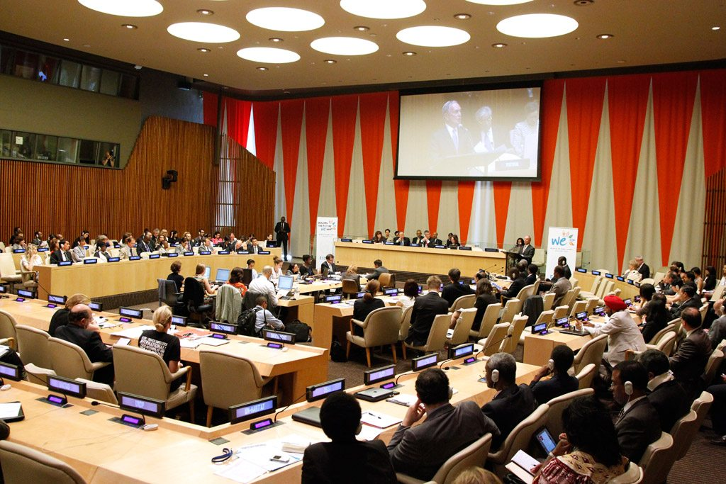 Photo: A wide view of the ECOSOC Chamber. UN Photo/Paulo Filgueiras