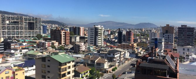 Photo: Central Quito on the morning of 15 October 2016.