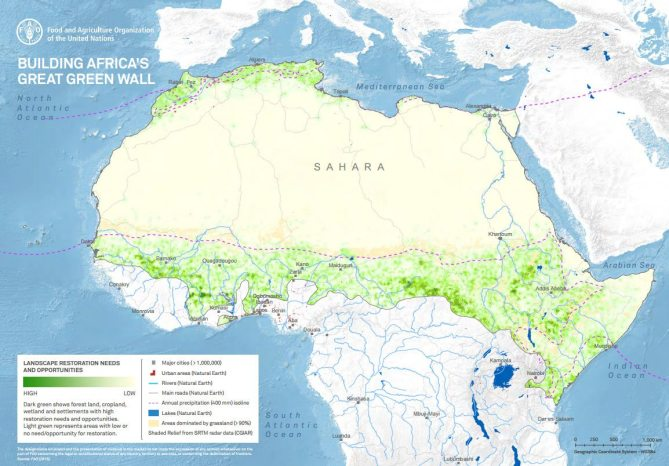 Africa's Great Green Wall. Source: FAO